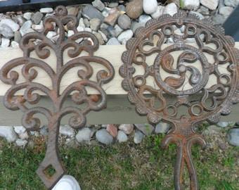 Two Vintage Cast Iron Trivets - Batavia, NY