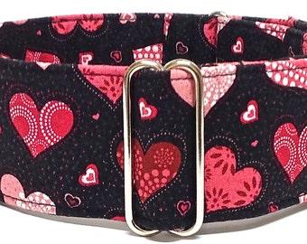 Greyhound, Whippet, Sighthound Martingale Collar or Buckle Dog Collar