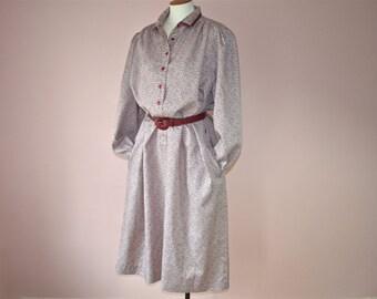 Schrader Sport Maroon Shirt Dress 1980's Secretary Day Dress Modern Modern Plus Size 22 W or  2 XL up to 24 W or 3Xl Vds150