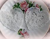 Reneabouquets Trim- Sweet Heart  Lace Appliques, Applique, Wedding Trim, Sewing, Scrapbook, crafts