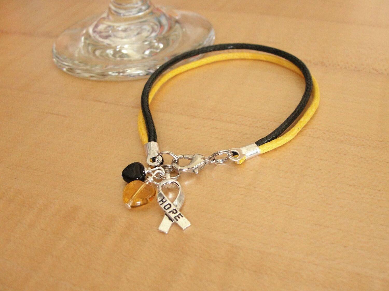 Black And Gold Awareness Bracelet Cotton Platelet