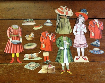 Antique German Paper Dolls from early 1900's.