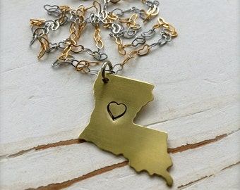 Handcrafted LOVE LOUISIANA, Golden, FREE Shipping, by Okrrah