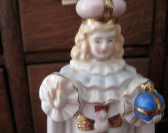 Vintage Infant of Prague Religious Planter