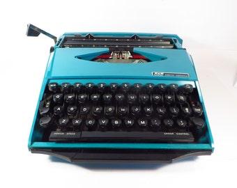 Mid Century Teal Ghia or Super G Smith Corona Typewriter - Smith Corona Design By Ghia Super G Manual Typewriter