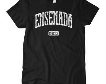 Women's Ensenada Mexico T-shirt - S M L XL 2x - Baja California Mexicana Ladies' Tee - 4 Colors