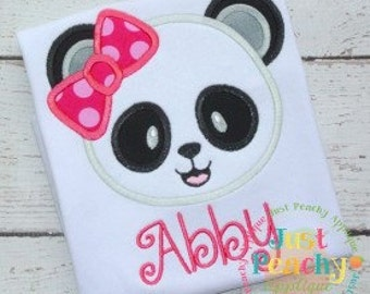 Panda Head Machine Embroidery Applique Design Buy 2 for 4! Use Coupon Code 50OFF
