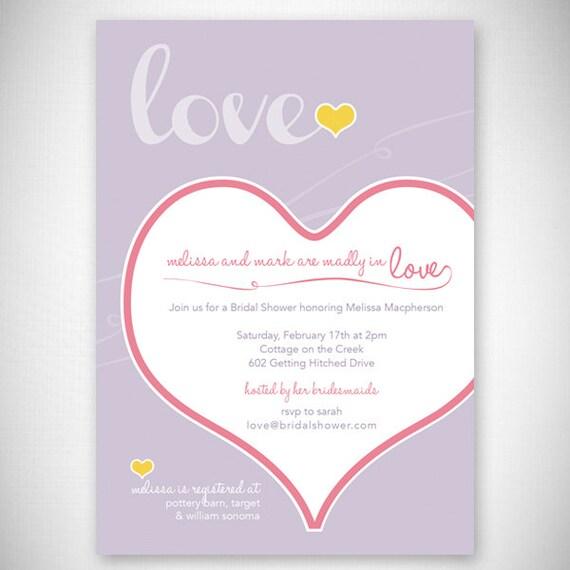 Madly & Deeply in Love Bridal Shower Invitation - DIY - Digital File - Print Your Own - JPEG - PDF