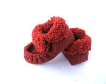 Totmocs Sherpa slippers, Scarlett Red  slippers
