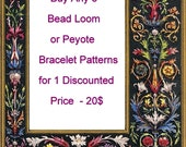 5 Bead Loom Peyote Bracelet Patterns PDFs for ONE Discountted Price 20 dollars or 3 any Bead Loom Peyote pattern for 12 Dollars