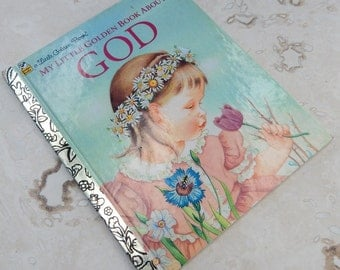 3.00 Sale  ~  My Little Golden Book About God  --   Little Golden Book Copyright 1975
