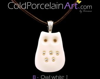 Cold Porcelain Art - Necklaces with Owl Pendants - Ready to Ship