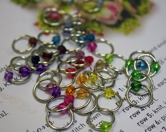 40 Shawl knitting stitch marker rings