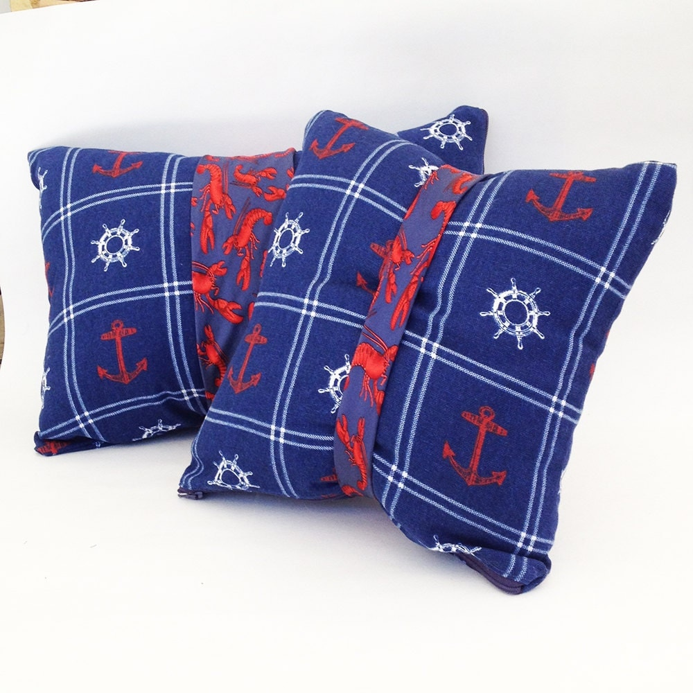 Nautical Coastal Throw Pillows : Unique throw pillows nautical pillows coastal pillows tie
