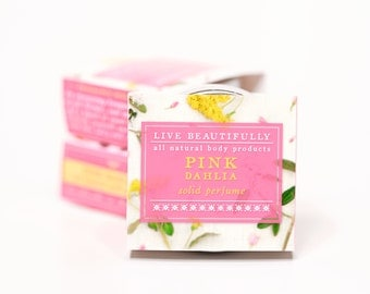 Pink Dahlia Perfume - All Natural - Bright Floral and Fresh, Sweet Lemon