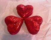 8 Heart boxes, sequince boxes, favor bags, party favors, heart boxes, wedding boxes, wedding favors, valentine boxes