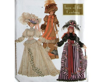 Fashion Doll Clothes Turn of the Century Pattern  Simplicity 95221:6 scale