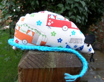 Retro Camper Van Catnip Mouse - Handmade Cat Toy with extra strong catnip