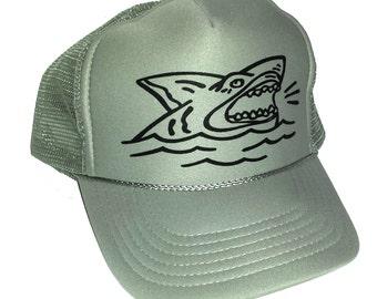 KID'S Toddler Shark  Mesh Trucker Hat Cap Youth Snapback