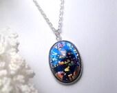 Dark Opal Necklace - Pendant - Opal Jewelry