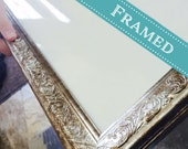 16x20 OR 11x14 Champagne colored FRAME + Custom Map Design, Wedding Guest Book Alternative, For map sizes: 11x14 with a matte or 16x20