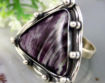 Statement Ring Kammererite Clinochlore Sterling Silver Jewelry