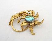 Vintage Exquisite Brooch, Abalone Shell Equisite Brooch, Signed Vintage Brooch, UK Seller