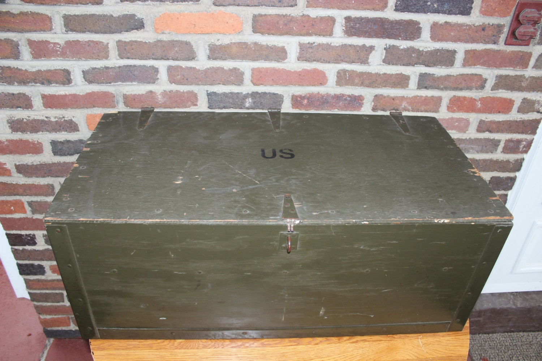 Vintage U S Army Issued Footlocker Trunk Texas Trunk Company