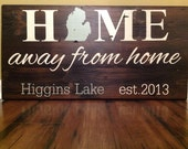 Painted Barnwood Sign. Home away from home.