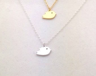 SALE Single Birdie Necklace