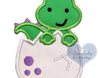 Dinosaur Egg Appliqued Embroidered Patch, Sew or Iron on