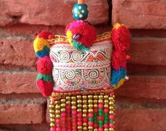 Colourful Decorative Bag Charm / Hmong Keychain