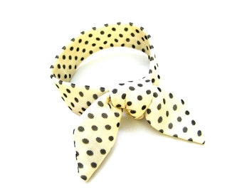 Bun Wrap, Polka Dot Fabric, Bun Crown, Top Knot Hair Tie, Wired Bun Tie, Wrist Wrap, Small Neck Accent, Under 10 Dollars, Ready to Ship