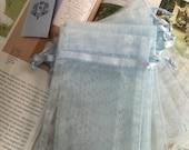 """40pcs Organza bags, 4"""" x 6"""" organza bag , favor bag , jewel organza bag, blue organza bags"""