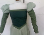 Custom order for EMMA - Belle's Green Library Dress with cape