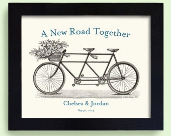 Lesbian Wedding Gift Unique Gay Wedding Engagement Gift Wedding Decor Gift for Couples Bicycle for Two