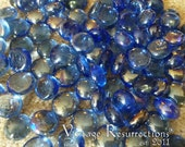 Blue Glass Cabochon