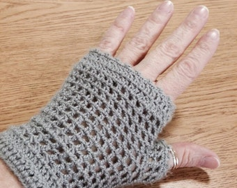 Alice in Wonderland Fingerless Crocheted Texting Gloves - MANY colors available
