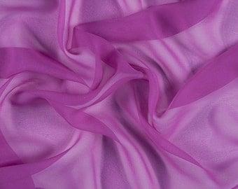 "54"" Wide 100% Silk Chiffon Magenta"