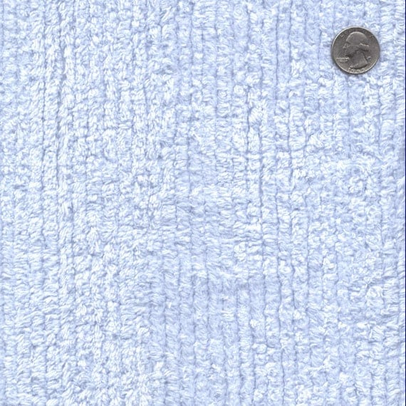 56 Wide Cotton Chenille Blue By The Yard