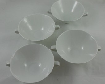 4 TTL – Mid Century Hutschenreuther Selb Bavaria Apart Footed Cream Soup Bowls