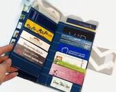 Credit Card Organizer, Women's Wallet 38 Credit Card Holder, Loyalty Card Organizer Chevron Card Wallet