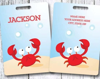 Crab Kids Personalized Bag/Luggage Tag