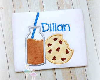 Cookie's and Milk shirt - chocolate chip cookie shirt - cookies birthday shirt - cookie's and milk themed birthday - boys cookie shirt