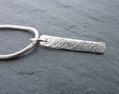 Sterling Silver Hammered Bar Pendant, Free UK Postage