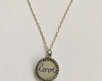Love sweetheart valentine necklace