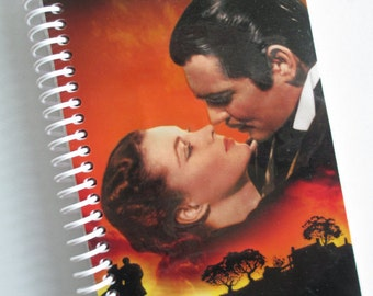 GONE With The WIND Notebook Journal Repurposed Vhs Movie Spiral