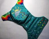 "Cloth Diaper ""Rainbow Rain"""