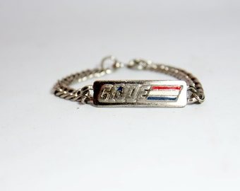 GI Joe Bracelet 1982 Official Id Jewelry Hasbro Factory Metal