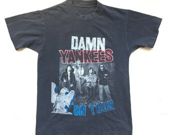 "original DAMN YANKEES Tour Shirt - ""Yank This"" - 1990's - Size Small"